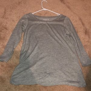 Loft soft grey blouse